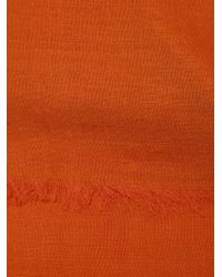 Denis Colomb | Red Raw Edge Scarf | Lyst