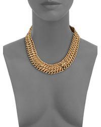 House of Lavande | Metallic Batari Triple-chain Collar Necklace | Lyst