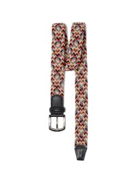 Andersons Multicolored Woven Belt for men