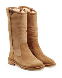 UGG - Brown Daphne Sheepskin Boots - Lyst