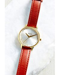 Nixon | Red Kensington Leather Watch | Lyst