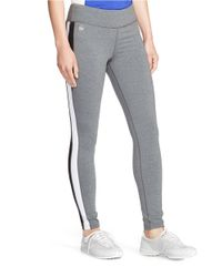 Lauren by Ralph Lauren | Gray Color-blocked Active Legging | Lyst
