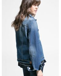 Mango Blue Medium Denim Jacket