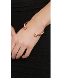 Fallon - Metallic Shalom Ball Cuff Bracelet Rose - Lyst