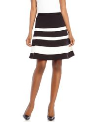 Spense | Black Color Block Ponte Skirt | Lyst