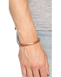 Cause and Effect Metallic Copper Cuff for men