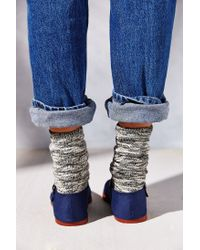 Urban Outfitters Blue Overdyed Cotton Mary Jane