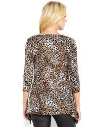 Spense - Brown Leopard Print Top - Lyst