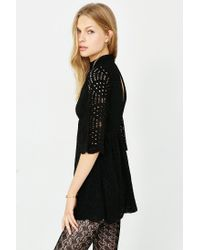 Motel Black Luella Lace Babydoll Dress
