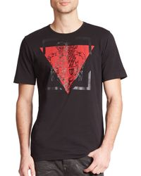 Diesel Black Gold | Black Military Crest & Triangle Print Cotton Tee for Men | Lyst