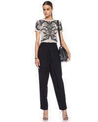 McQ - Black Front Pleat Rayon-blend Trouser - Lyst