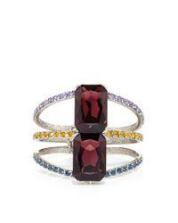 Oscar de la Renta Multicolored Pave Octagonal Stone Bracelet