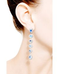 Dana Rebecca - Blue One Of A Kind Moonstone Drop Earrings in 14k White Gold - Lyst