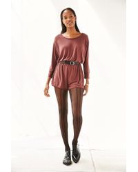 Silence + Noise - Brown Donni Romper - Lyst