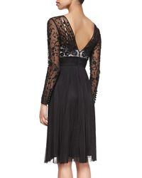 Catherine Deane - Black Long-sleeve Lace A-line Dress - Lyst
