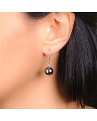 Black.co.uk | Fortuna Tahitian Black Pearl Earrings | Lyst