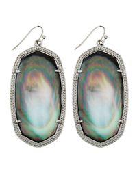 Kendra Scott | Metallic Rhodium Danielle Earrings | Lyst