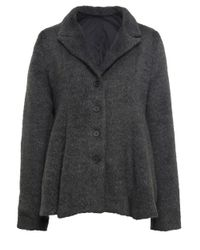 Rundholz Gray Flared Wool Coat