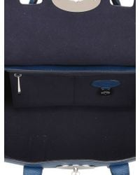 Mulberry Blue Small Bayswater Satchel