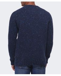 Barbour | Blue Netherby Flecked Wool Jumper for Men | Lyst