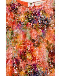 Nicole Miller Multicolor Poppy Sequin Crop Top