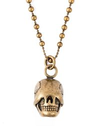 Givenchy | Metallic Skull Pendant Necklace for Men | Lyst