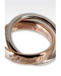 Emporio Armani - Pink Ring for Men - Lyst