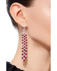 Sidney Garber | Red Ruby Trellis Earrings | Lyst