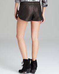 Rails Black Shorts Python Embossed Leather