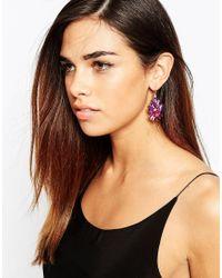 Little Mistress | Purple Multi Stone Drop Earrings | Lyst