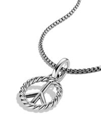 David Yurman | Metallic Cable Collectibles Peace Sign Charm | Lyst