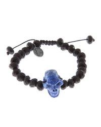 Joseph Brooks - Black Skull Bracelet for Men - Lyst