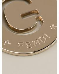 Fendi Metallic G Id Charm