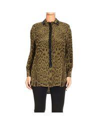 Roberto Cavalli - Green Women's Shirt - Lyst