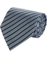 Armani - Blue Herringbonestripe Jacquard Neck Tie for Men - Lyst