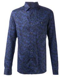 Todd Snyder | Blue Plume Print Shirt for Men | Lyst