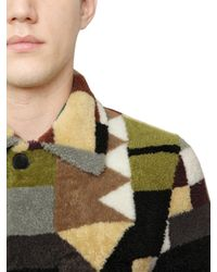 Valentino Multicolor Patchwork Fur Coat for men