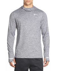 Nike | Gray 'element' Dri-fit Running Hoodie for Men | Lyst