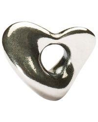 Trollbeads Metallic Silver Soft Heart Charm