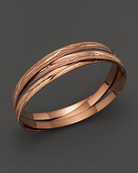 Roberto Coin | Metallic 18k Rose Gold Plated Sterling Silver Small Bangle | Lyst
