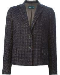 Kolor - Blue Woven Wool-Blend Blazer  - Lyst
