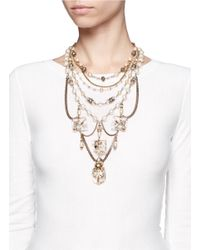 Erickson Beamon - Metallic Ballroom Dancing Multi-strand Pearls And Crystal Necklace - Lyst
