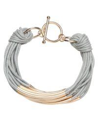 John Lewis | Metallic Multi Cord Tube Detail Bracelet | Lyst