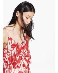 Mango Red Floral Long Dress