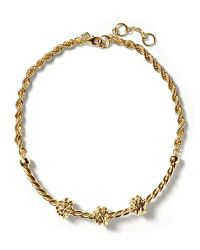 Banana Republic | Metallic Knot Rope Necklace | Lyst