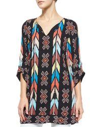 Tolani - Brown Kamaya Embroidered Long Tunic - Lyst