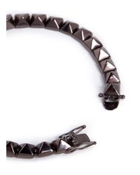 Eddie Borgo | Brown Small Pyramid Bracelet for Men | Lyst