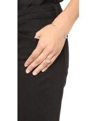 Monica Vinader Metallic Naida Circle Open Ring