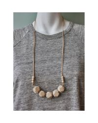 Spectrum | Natural Wood Double Cord Necklace | Lyst