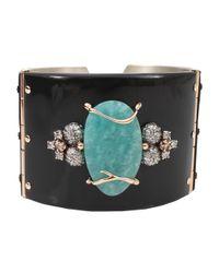 Federica Rettore | Black Zebu Horn Cuff Bracelet | Lyst